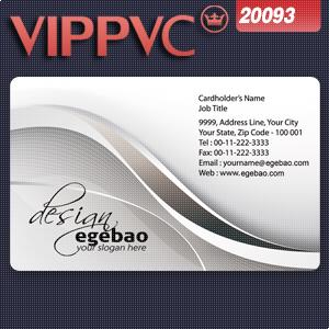 a20093 Low Price PVC Plastic Business Card white plastic