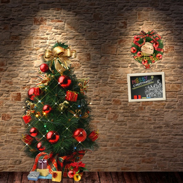 Background Christmas Photography Vintage Brick Wall Photos Backdrops ...