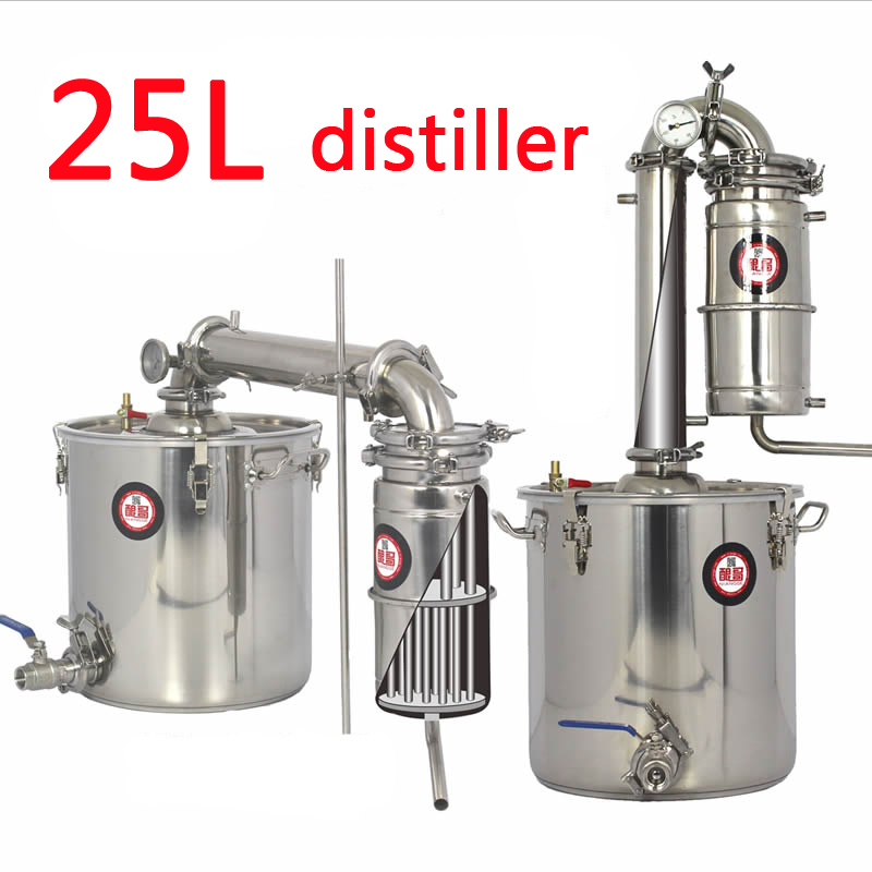 25L Large capacity Stainless steel Wine brewing machine distillation wine equipment Alcohol Vodka Liquor distiller pot/boilers alexander wang хлопковая рубашка