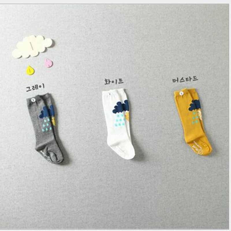 Soft Cotton Kawaii Girls Boys Sock Striped Geometric Catoon Pattern Kids Socks Baby Long Socks Children Christmas Gift Socks