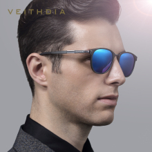 VEITHDIA Luxury Aluminium Magnesium Unisex Sunglasses Polarized Lens Vintage Eyewear shade male Sun Glasses Men Women 6680
