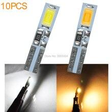 10PCS T5 Wedge 2-SMD 5630 LED Dashboard Instrument Panel Light 37 70 73 74 85 86 White Warm white