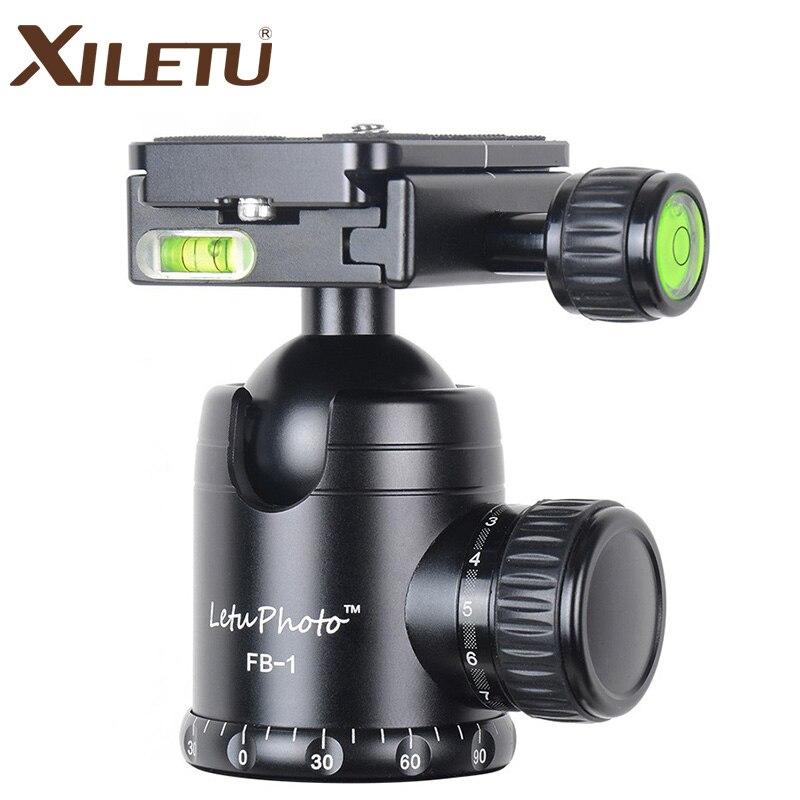 XILETU FB-1 aluminium professionnel caméra rotule trépied tête panoramique chargement poids 15 kg pour ARCA Standard Manfrotto