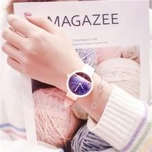 Fashion Harajuku Girls Quartz Watch Cute Pink Silicone Band Starry Sky Students Casual Wristwatch Reloj de dama