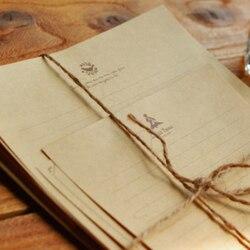 12 шт./упак. Новый Винтаж с принтом «Маленький принц», башня Лось ключевая буква Бумага набор/поздравительная открытка с буквенным принтом Бу...