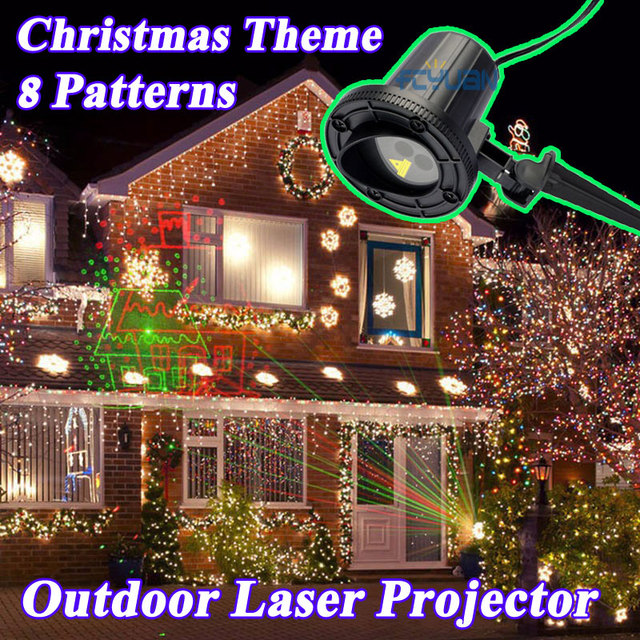 elf laser snowflake showers projector christmas lights decorations for home red green mix with remote outdoor