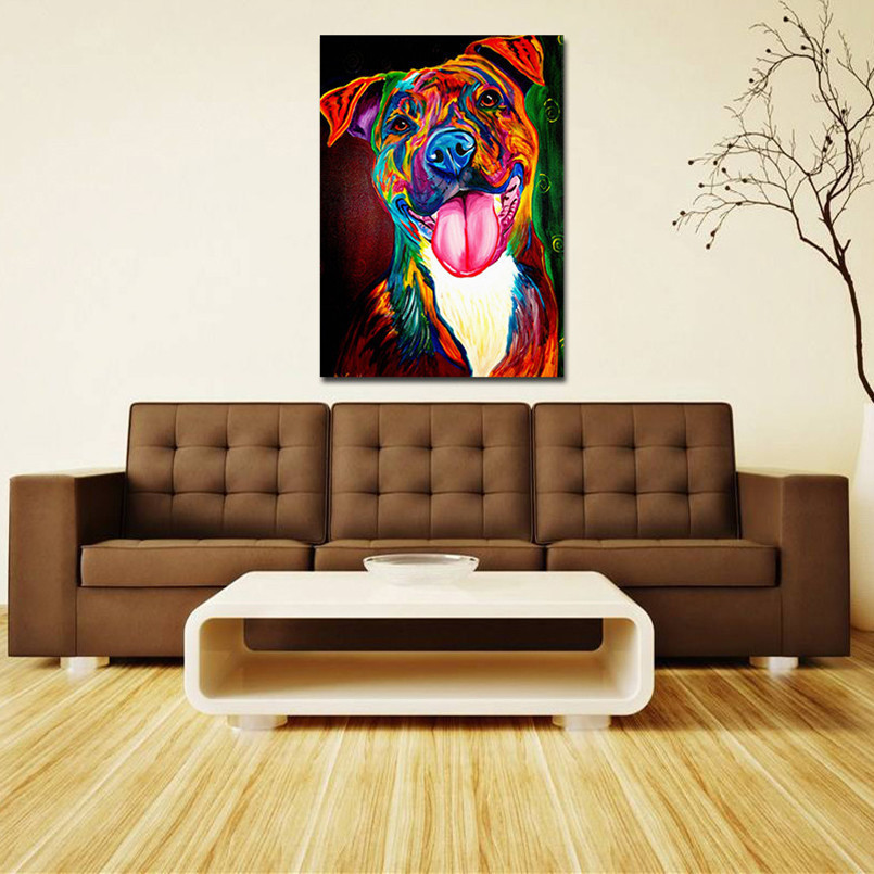 Colorful Dog Oil Painting Canvas Picture Coloring By Number Drawing Craft Living  Room Paintings with Free Shipping Worldwide! WePosters.com
