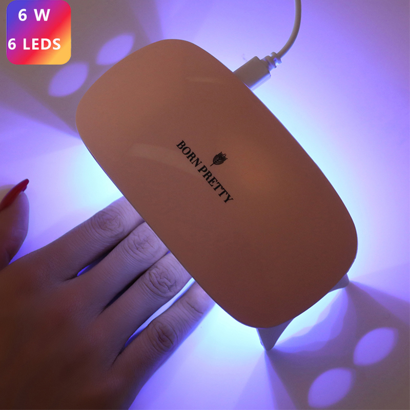 BORN PRETTY 6W Nail Dryer UV Led Lamp Portable USB Cable For All Types Gel Polish Curing Gel Varnish Machine Nail Art Tool Lamp
