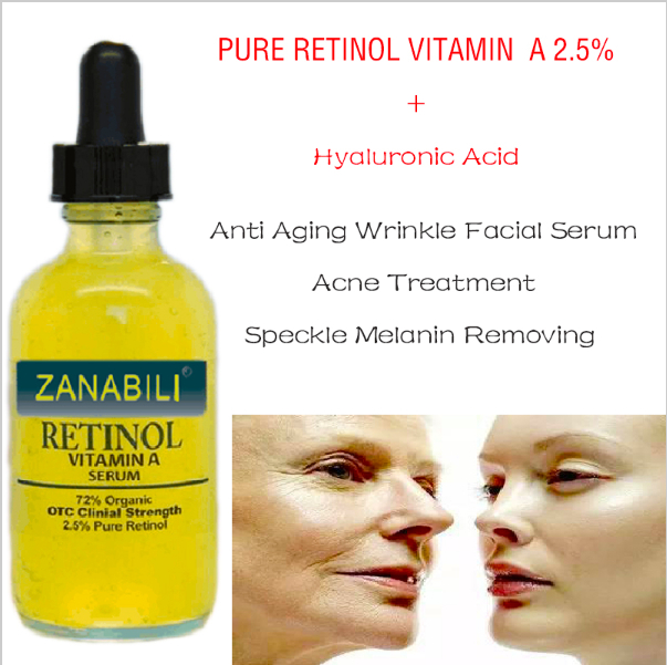 PURE RETINOL VITAMIN A 2 5 Hyaluronic Acid Acne Scar Removal Cream Spots Facial Serum Anti