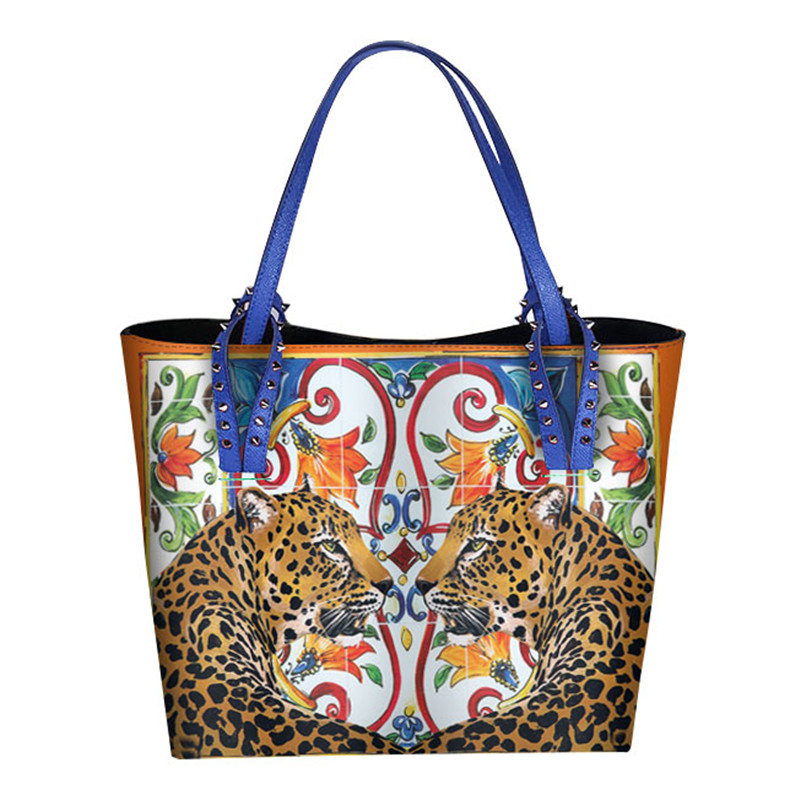 Prestige Italie Marque Sicile Style Ethnique Sac En Cuir Véritable Femmes Siciliennes Shopper Fourre-Tout Célèbre Designer Épaule Sac Grands Sacs À Main