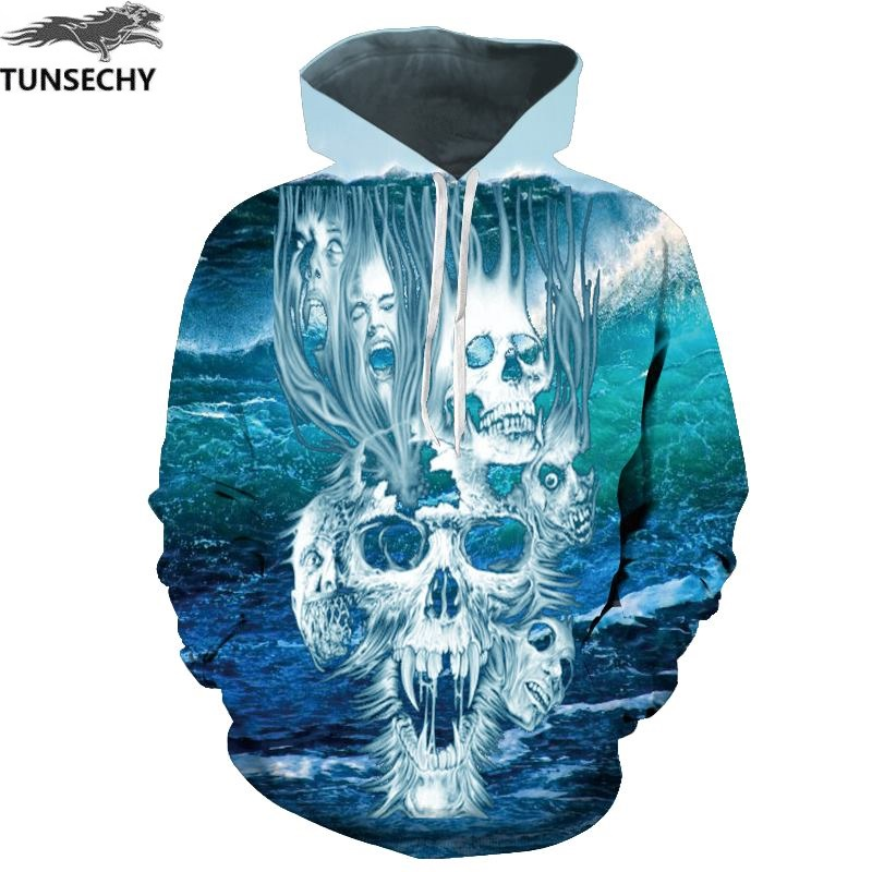 TUNSECHY Brand 3D Sweatshirts Men/Women leisure Hoodies Print Autumn Winter Loose Hooded Hoody Tops Free transportation
