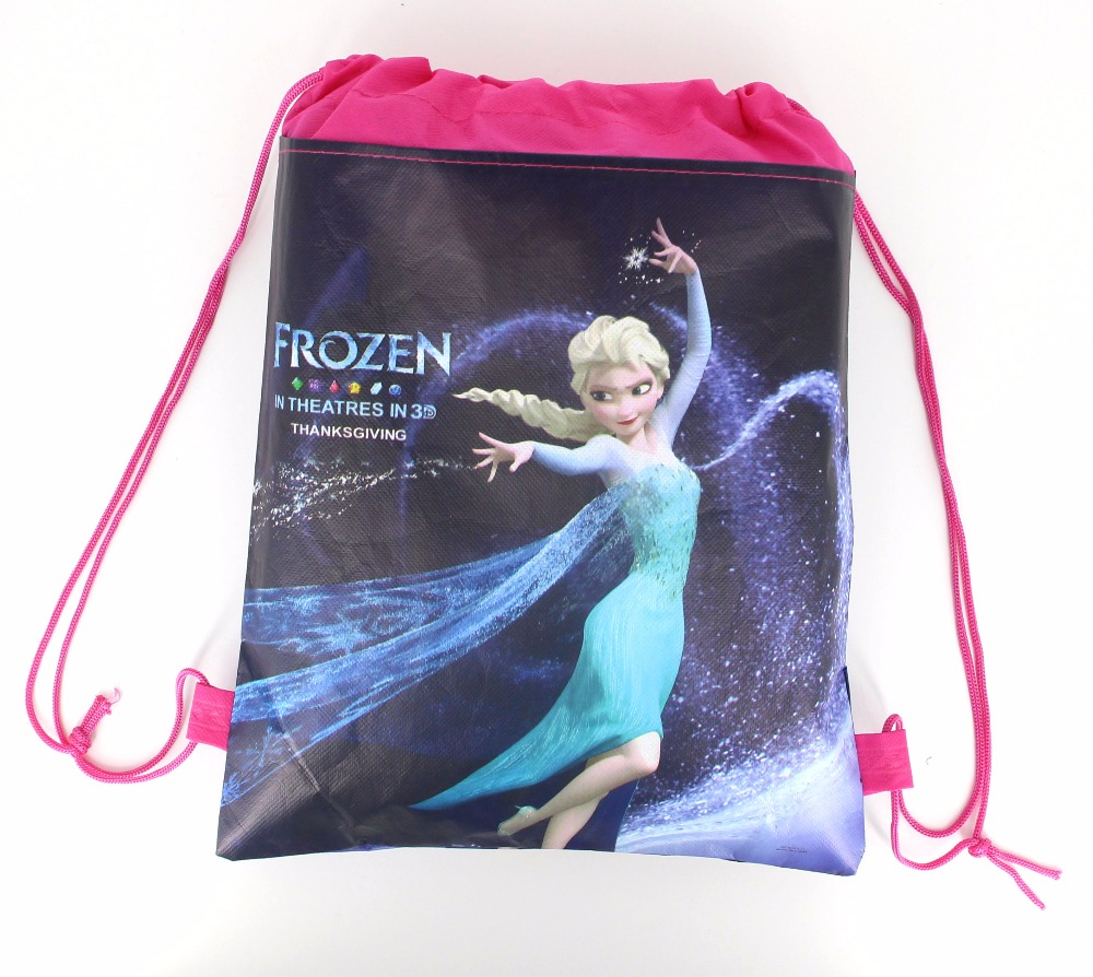 12pcs Frozen Theme Princess Anna Elsa Snow Queen Movie Non woven Fabrics  Drawstring Backpack Schoolbag Shopping Bag-in Gift Bags   Wrapping Supplies  from ... 1546c0f33b8e2