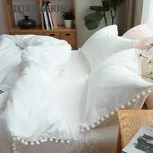 LOVINSUNSHINE Bed Duvet Cover Clothes Wish Pure White Washed Balls Single Bedding Set AB#90