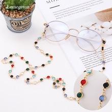 Lemegeton Sunglasses Cord Glasses Chain Lanyard Colorful Crystal bead metal Eyeglass Holder Eyewear Accessories