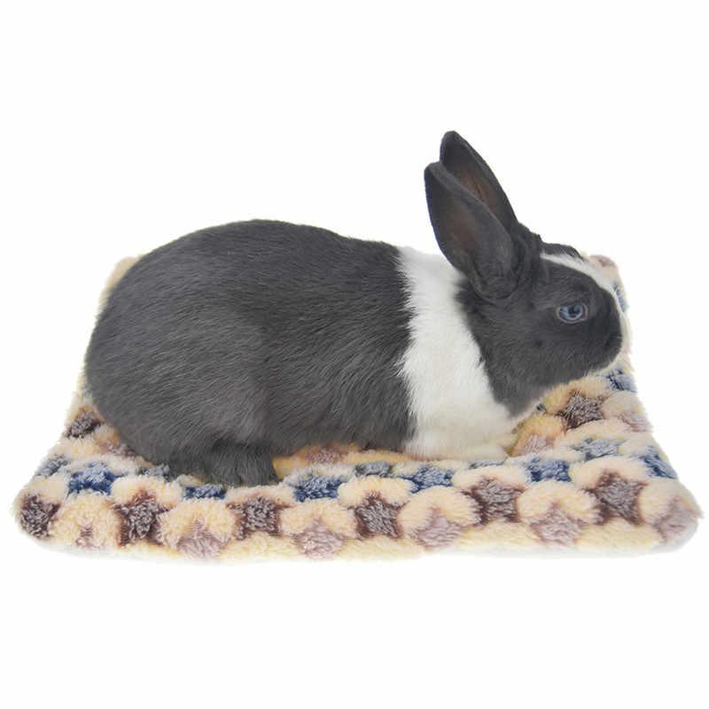 Coelho cobaia hamster almofada tapete de cama inverno quente pequeno animal cão esquilo ouriço chinchila cama casa ninho gaiola acessórios