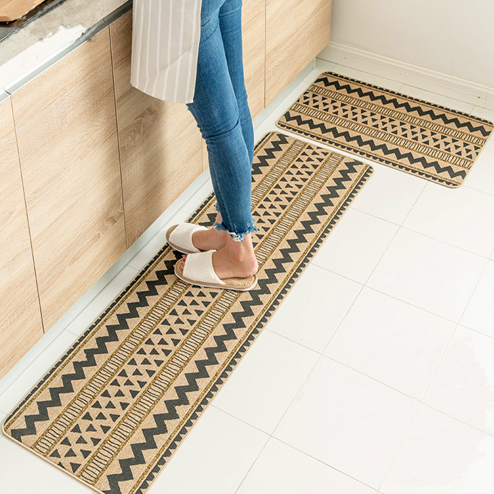 national style triangular geometric pattern kitchen rug runner rubber non slip living room. Black Bedroom Furniture Sets. Home Design Ideas