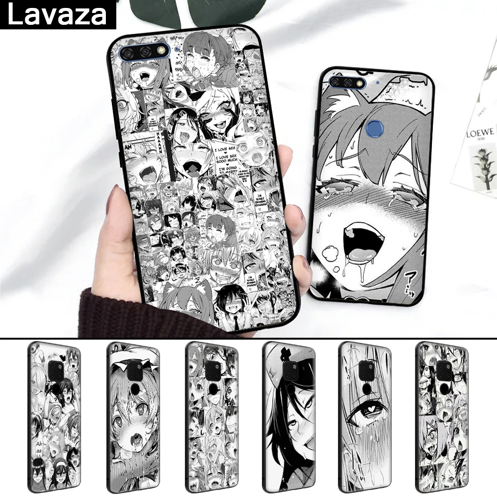Lavaza Anime <font><b>girl</b></font> cartoon japan faces Silicone <font><b>Case</b></font> for <font><b>Huawei</b></font> Mate 10 Pro 20 Lite Nova 2i 3 3i Y6 Y5 Y9 <font><b>2019</b></font> <font><b>Y7</b></font> 2017 Prime 2018 image