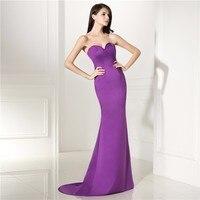 Simple Long Mermaid Evening Dress New Style Sweetheart Neckline Sleeveless Formal Party Gown Plus Size Vestido De Festa