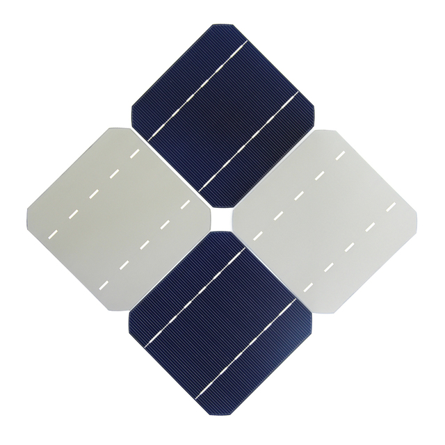 10 Pcs 17.6% 125 x 125MM Mono Solar Cells 5×5 Grade A monocrystalline Silicon PV Wafer For DIY Home Photovoltaic Solar Panels