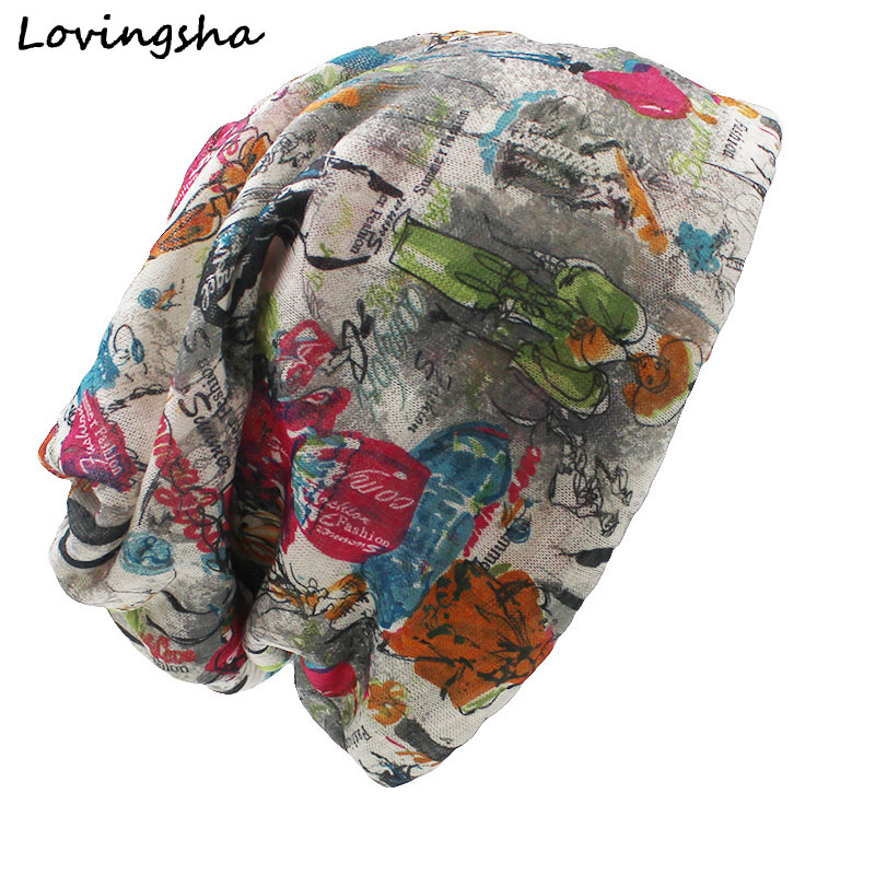 Бренд lovingsha, осенне-зимние женские шапки двойного использования, тонкие дизайнерские шапки и шапки с рисунком, женский шарф, маска для лица ...
