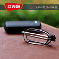 2016 ultra light brand high-end glasses folding men and women anti fatigue reading glasses imported resin 6008 +1 to +4