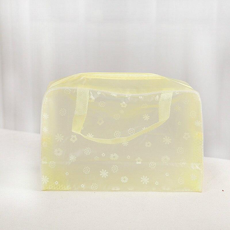 Водонепроницаемая косметичка для мытья ванной сумка для приемов путешествий многофункциональная косметическая сумка для приемов - Цвет: yellow