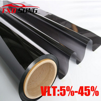 Cheapest Black Window Tint Film Glass1.52*12M Roll 2 PLY Tinting Protection UV+Insulation Car Side Window Tint Film5%10%15%20%