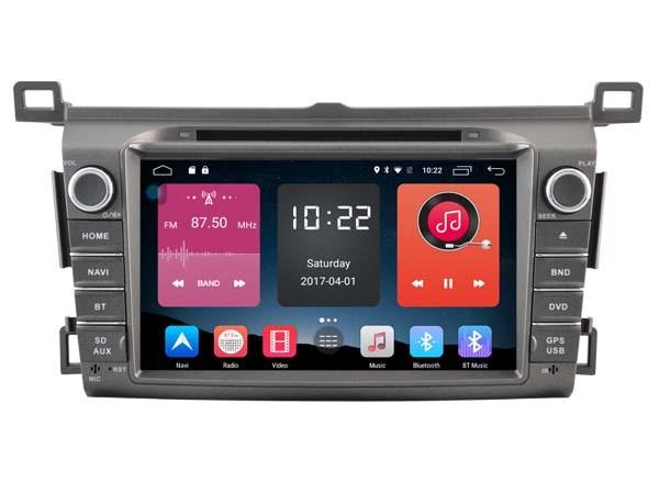 все цены на 4G lite 2GB ram Android 6.0 quad core car dvd player stereo gps multimedia tape recorder for toyota rav4 2013 2014 head units онлайн