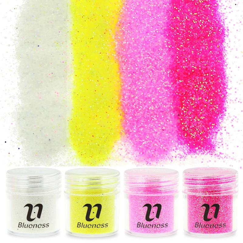 1 butelis 10g 4 spalvų dulkių 3D nagų blizgesys akrilo glitteriai miltelių patarimai nagų dailės dekoracijos BG013 - BG016