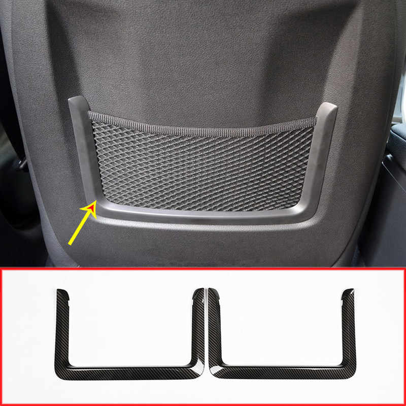 Carbon Fiber Style Rear Trunk Back Car Seat Net Decoration Frame Trim For BMW 3 GT 1 2 4 series F30 F34 F20 2013-2017 Auto Parts