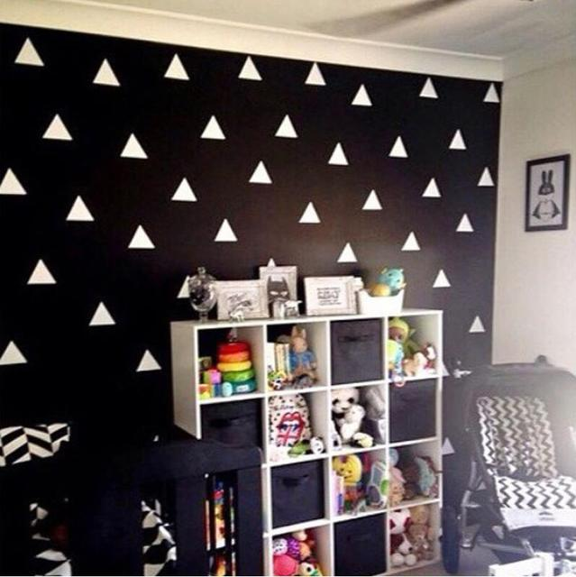 Aliexpress Black White Silver Gold Triangles Wall