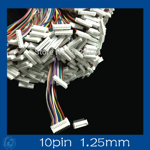 Mini. Micro 1.25 T-1 10-Pin Conector W /. X 10 Sets.10 Pin 1.25 Mm