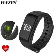 Frezen F1 Smart группа крови кислорода Давление Мониторы спортивный браслет сердечного ритма Мониторы вызова/SMS напоминание для IOS Android телефон