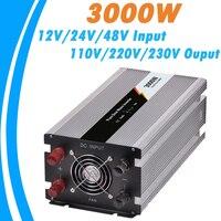 3000W Pure Sine Wave Off Grid Tie Inverter Optional 12V/24V/48V DC Input and 110V/220V AC Output Microprocessor Based Design NEW