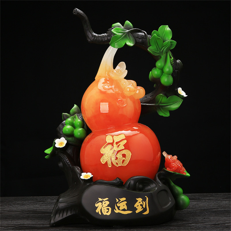 Busniess Gifts Gourd Figurine Office Home Decoration Accessories Ornaments Best Wishes Gourd Sculpture Miniature Garden Crafts Figurines Miniatures Aliexpress