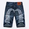 Denim Shorts Men 2016 Summer Casual Men Short Ripped Jeans For Men Fashion Bermuda Masculina Beach Board Shorts Knee Length