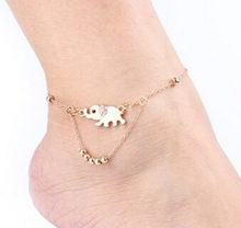 2018 New Sexy Sandalias Beach Rhinestone Elephant From India Barefoot Chain Ankle Bracelet Foot Jewelry Anklets For Women(China)