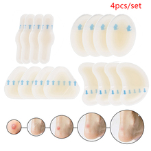 4pcs/set Adhesive Hydrocolloid Gel Blister Plaster Heel Anti wearing Heel Sticker Pedicure Patch Plaster Foot Care Tools
