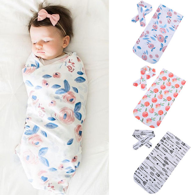 7ba0800f1564 Lovely Newborn Baby Boys Girls Soft Organic Cotton Blanket Headband ...