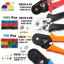 6-6 0,25-6mm 23-10AWG Hexagon 10S 0,25-10mm 23-7AWG Viereck Rohr Schnürsenkel Terminal crimpen Zangen Crimp Hand Werkzeuge HSC8