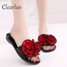 New Slippers Platform Sandals Slip On Flats Casual Shoes Woman Beach Flip Flops Flowers Women Shoes  C0797 crystal gladiator sandals summer flip flops casual shoes woman slip on flats rhinestone women shoes ch803