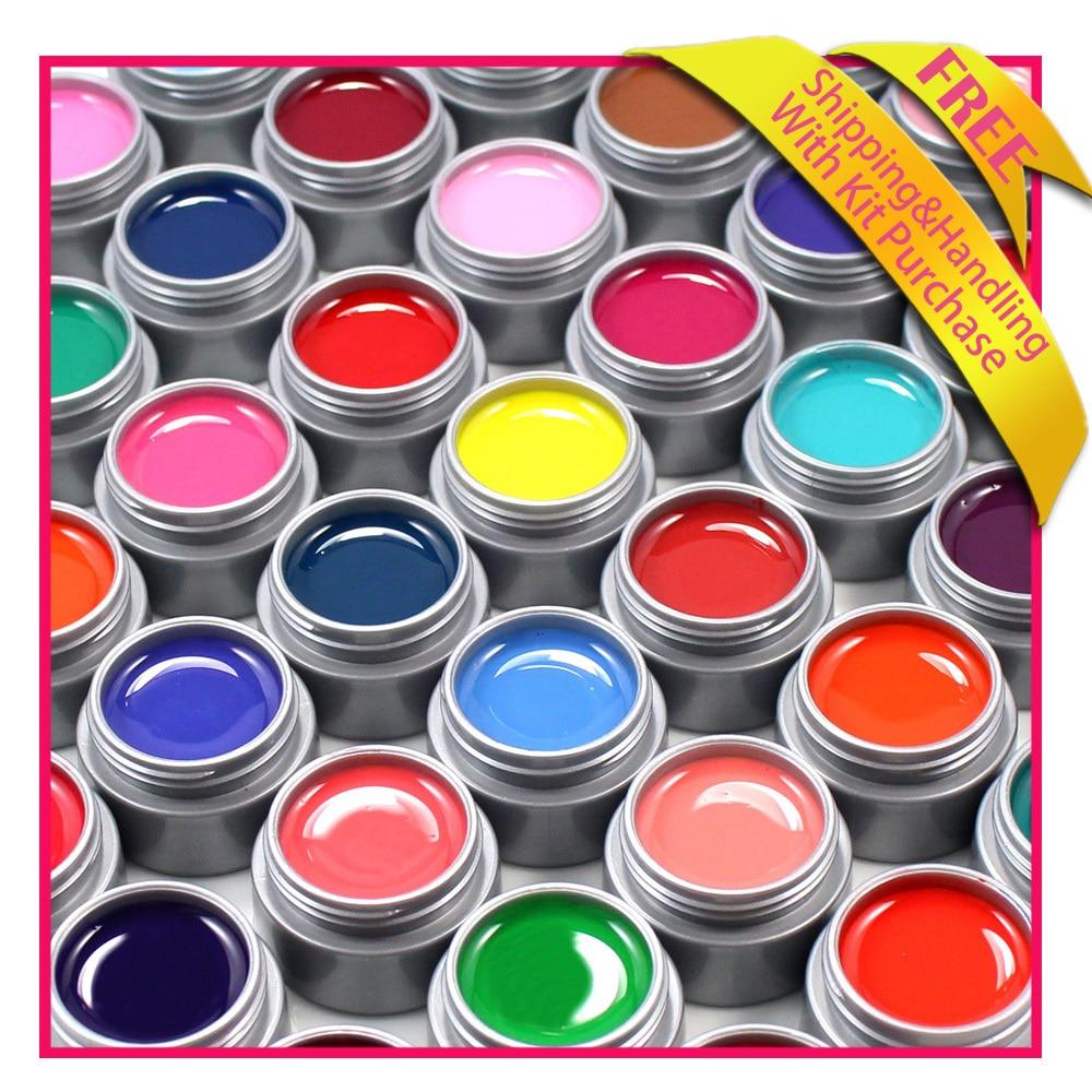 GEL LEN Color uv gel 12 pcs UV Gel For Nail Art Buliding Polish Set Solid