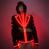 Luminous Costumes LED Hoodies Glowing Jacket Luminous Suits Men LED Clothing Party Dance Accessories