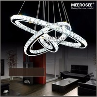 LED Crystal pendant Lights Modern LED Circle pendant Lamp Hanging Lustres LED Ring Lighting lampada led Home Decoration