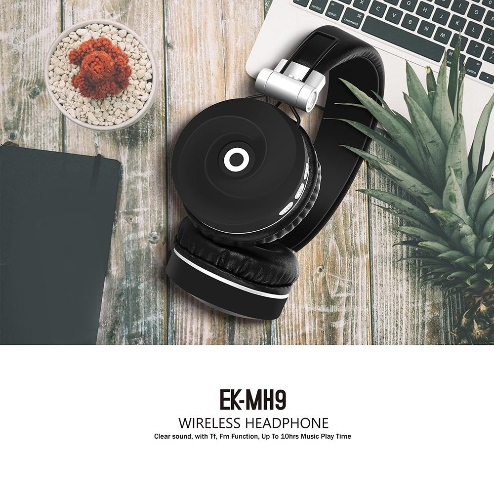 BEESCLOVER MH9 Wireless Headphones Bluetooth 5.0 Headset Foldable Stereo Gaming Bluetooth Earphones for IPad Mobile Phone r25