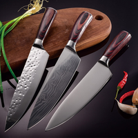 Damascus Chefs Knife 8 Inch Stainless Steel Kitchen Sharp for Cutting, Slicing, Mincing and Dicing of Fruits Vegetables /Meats