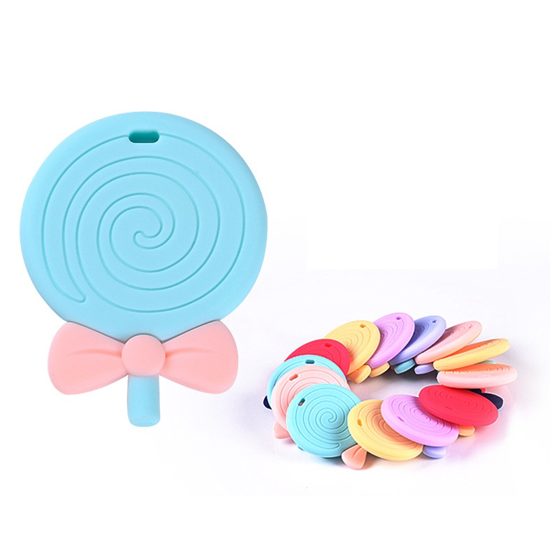Cute Nursing Teething Toys Baby Silicone Lollipop Kids Infants Teethers Pendant Toys To Soothe Sore Gums