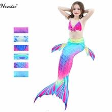 Baby Girl Kids Cosplay Mermaid Tail Costume Dress Bikini Set Top Mermaid Tail Swimsuit Mermaid Costume Tail Without Monofin