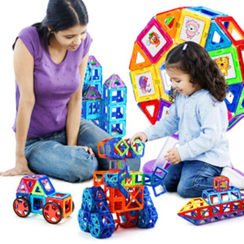 2016 Date Creative Éducatifs Toys118pcs Ensemble Briques de CONSTRUCTION MAGNÉTIQUE JOUET Aimant jouet De Bloc De Construction 3D DIY BUILDING Block Set