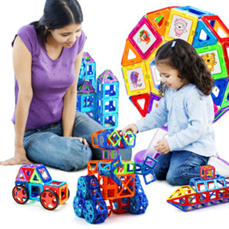 2016 Newest Creative Educational Toys118pcs Set Bricks MAGNETIC BUILDING TOY Magnet Block Building toy 3D DIY Building Block Set 62pcs set magnetic building block 3d blocks diy kids toys educational model building kits magnetic bricks toy